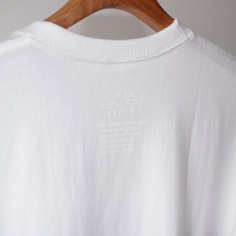 【SALE】7.1oz Heavyweight College Tshirts White