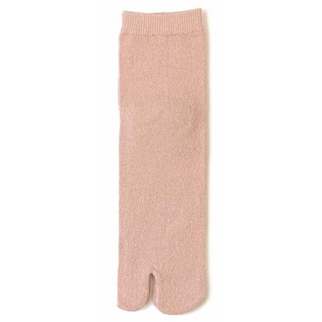 099 表絹100%無地足袋クルーソックス/22-24cm