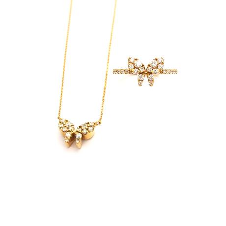 蝶々 ダイヤリング