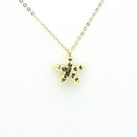お花 ダイヤネックレス