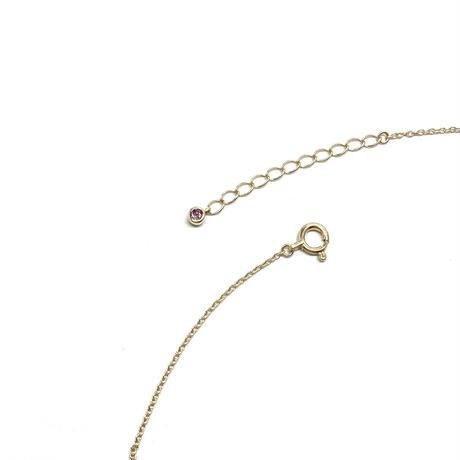 アニマーレ フレンチブルドッグ ネックレス K10YG  (半貴石)
