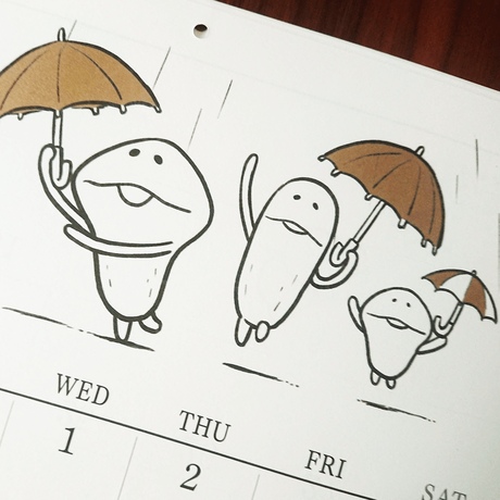 なめこのカレンダー(壁掛け)