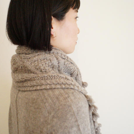【予約販売】CA&Co. 手編み YAK  petit muffler(フリンジ付き)