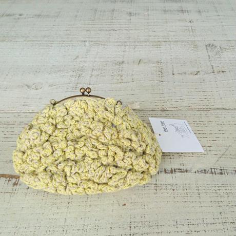 【オーダー品】Sango手編みポシェット(Lサイズ)レモンイエロー