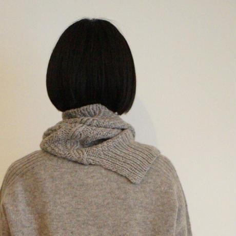 【予約販売】CA&Co. 手編み YAK  鹿の子ネックウォーマー(ゆったりタイプ)
