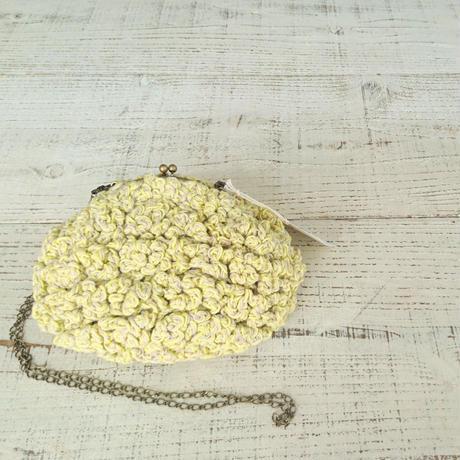 【オーダー品】Sango手編みポシェット(Mサイズ)  レモンイエロー