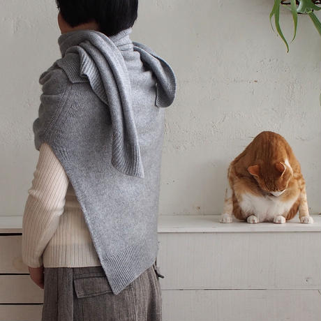 【予約販売】CA & Co. カシミヤガーゼ ケープカーディガン