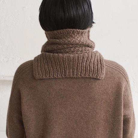 【予約販売】CA&Co. 手編み YAK  鹿の子ネックウォーマー(ジャストタイプ)