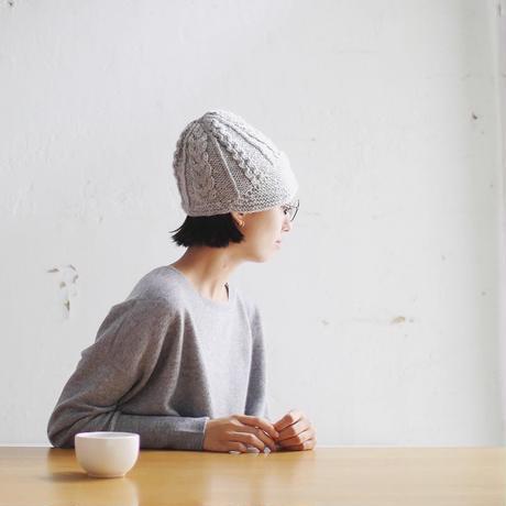 【オーダー品】Carol つば付きニット帽(ケーブル柄)