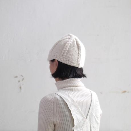 【オーダー品】Carol つば付きニット帽(裏編みタイプ)