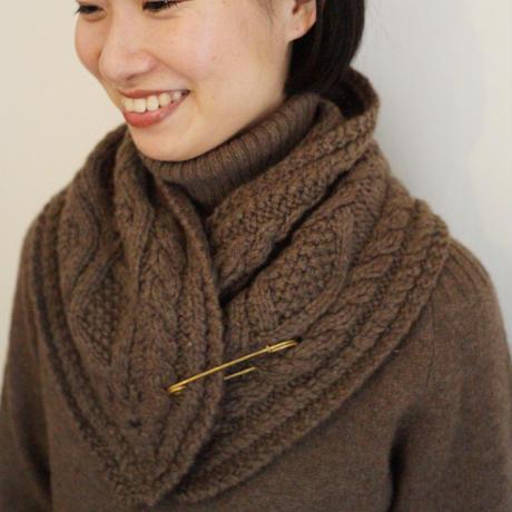 【予約販売】CA&Co. 手編み YAK  petit muffler(フリンジ無し)