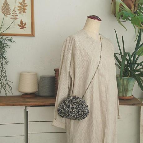 【オーダー品】Sango手編みポシェット(Mサイズ)ネイビー