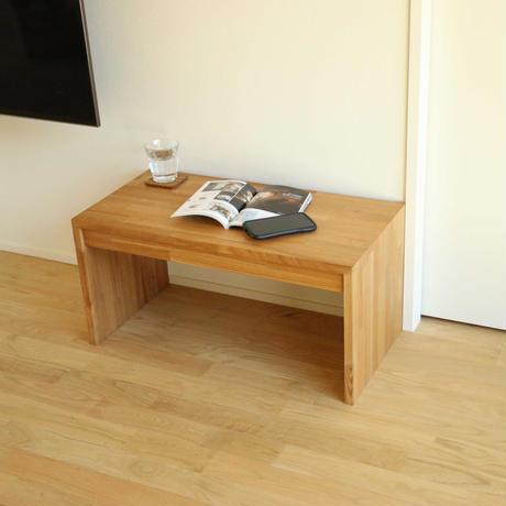 タモでできたローテーブル|無垢集成材のおしゃれなリビングテーブル