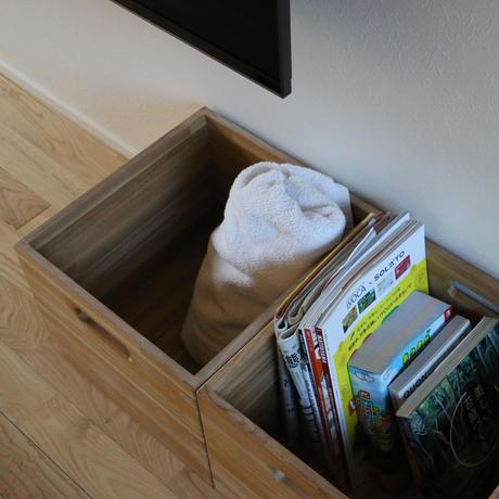 タモでできた収納ボックス/フリーボックス【2個セット】