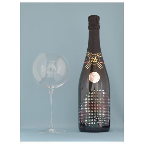 awa酒専用グラス「IMMERSION」・人気一あわ酒スパークリング純米大吟醸セット