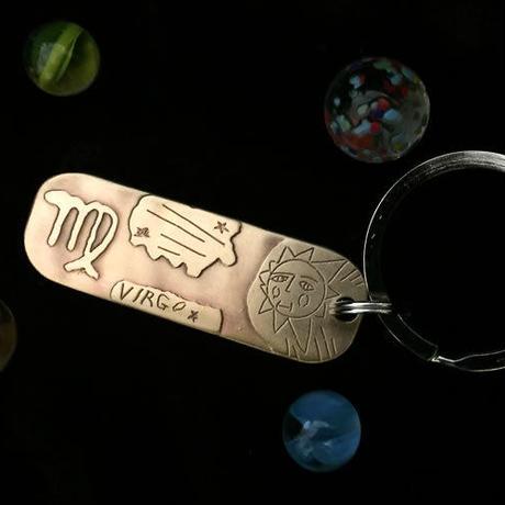 """銅板キーホルダー """"VIRGO""""  M015"""