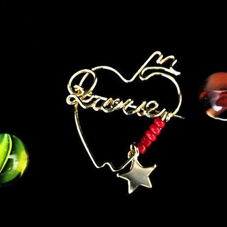 """ブローチ DUECCEL """"LOVE"""" P024"""