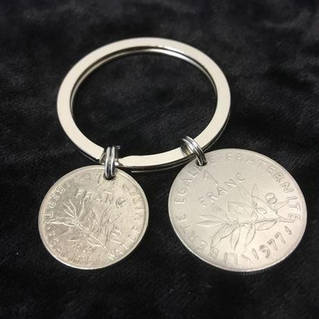 キーホルダー アンティークコイン  K010