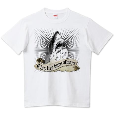 """レギュラー 5.6オンス  """"Shark"""" Nameless Element T-Shirt"""