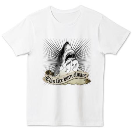 """タイト 4.6オンス  """"Shark"""" Nameless Element T-Shirt"""