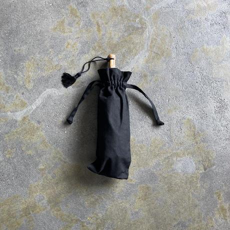 ツタエノヒガサ ウサギノタスキ 麻ム地 黒