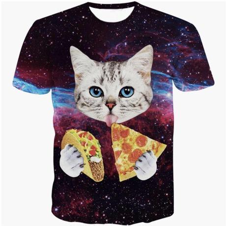 ピザネコ半袖Tシャツ