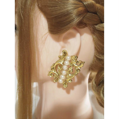 [movie star] gold pearl Earring イヤリング