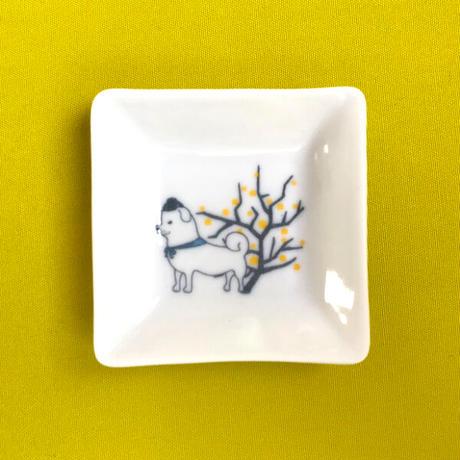 まめ皿(桃黄)