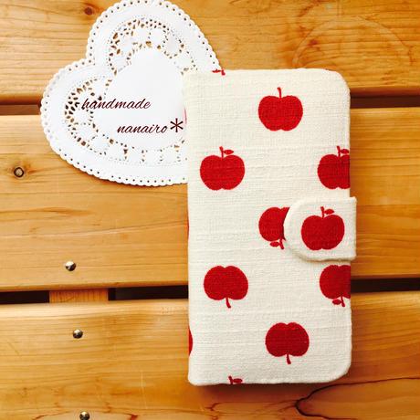 りんご*手帳型ケース