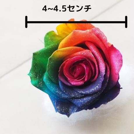 プリザーブドフラワー・花材 レインボーローズ ビビット Mサイズ ラメ入り