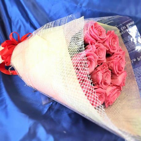 プリザーブドフラワー ピンクローズの花束~11本~最愛~