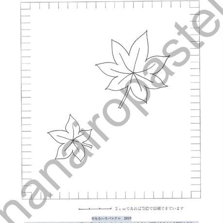 型紙DL【10】紅葉と満月の型紙