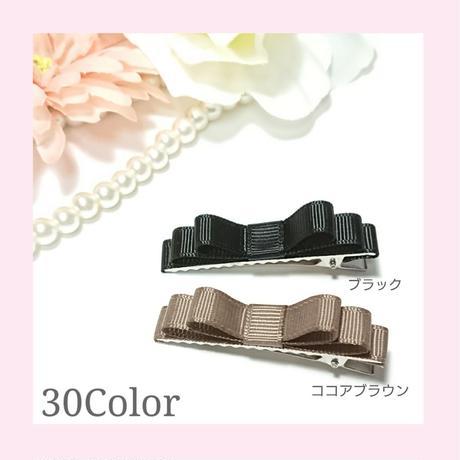 【30色】トリプルリボンミニヘアクリップ[E5]