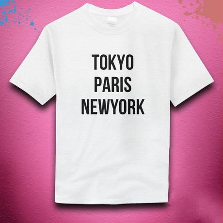 【NanakoWolfordオリジナル】TokyoParisNewYork-Tシャツ