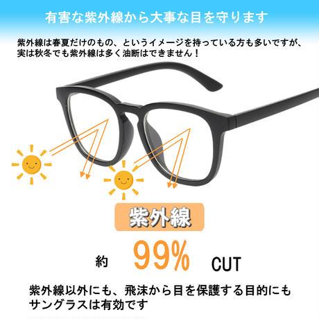 【スクエア メガネ】3colors/UV99%cut/Ladies'・Men's