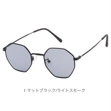 【メタルオクタゴン サングラス】4colors/UV99%cut/Ladies'・Men's
