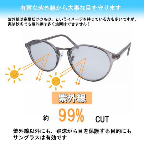 【ボストン クリアフレームサングラス】 5colors/UV99%cut/Ladies'・Men's