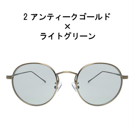 【ヴィンテージボストン メタルサングラス】7colors/UV99%cut/Ladies'・Men's