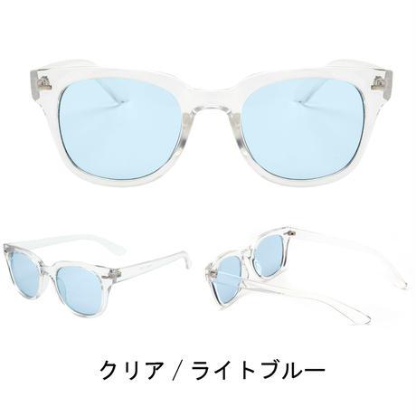 【ウェリントン クリアフレームサングラス】 4colors/UV99%cut/Ladies'・Men's