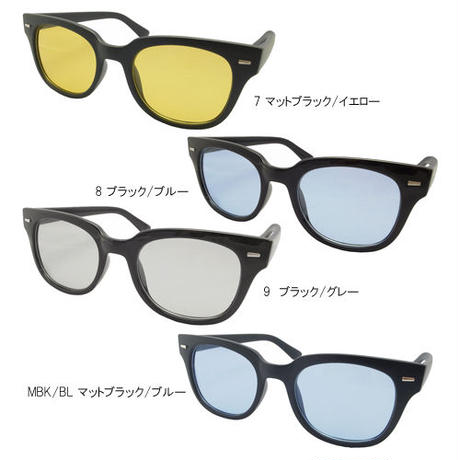 【ウェリントン カラーレンズサングラス】 4colors/TY2853  MEN'S/LADY'S   サングラスケース付き 送料無料!