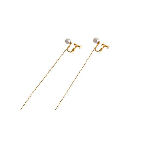 #2 冬花 Akoya 2way Long Earrings