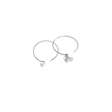 #81 百花 Goldfish Pearl Hoop Earrings Large