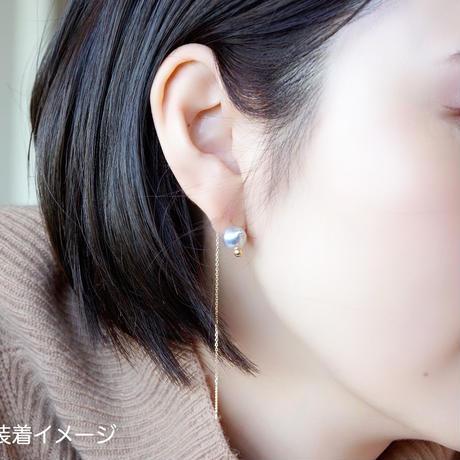 #90 百花 Horn Pearl Earring
