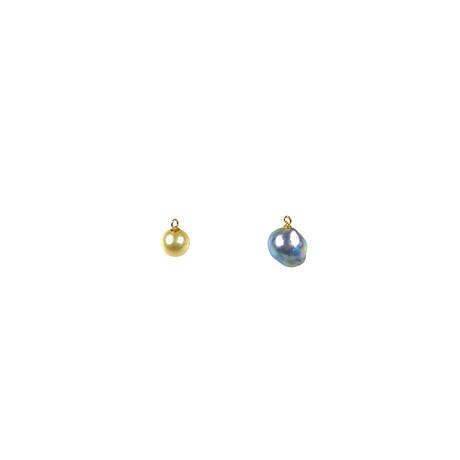 #98 百花  Coloful Akoya Pearl Hoop Earrings Large