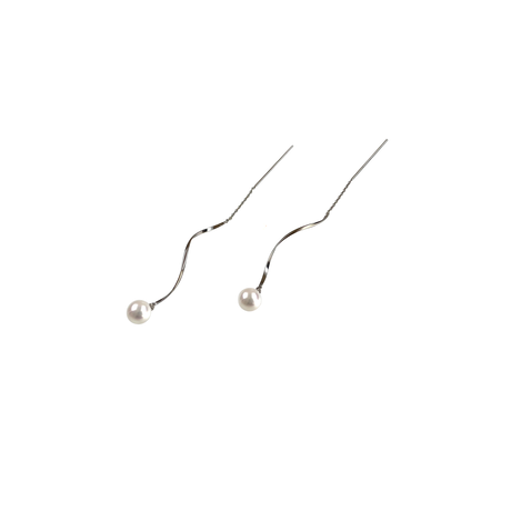 #10 冬花  Akoya Wave Earrings