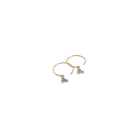 #142 百花 Goldfish Pearl Hoop Earrings Small