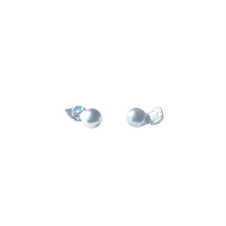 #159 百花 Superior Goldfish Pearl Earrings