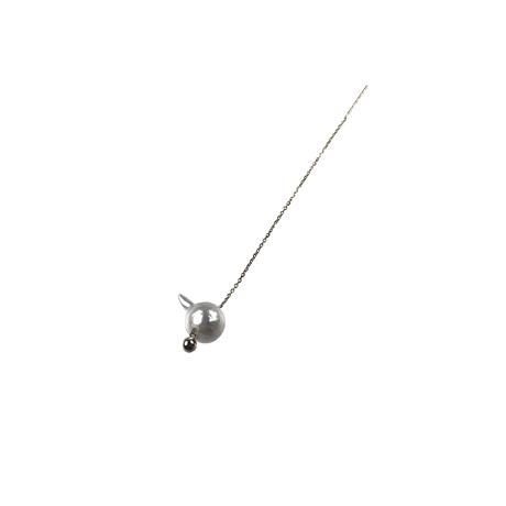 #87 百花 Horn Pearl Earring