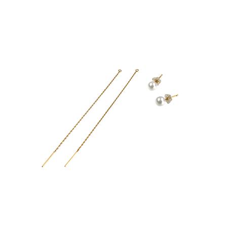 #1 冬花 Akoya 2way Long Earrings