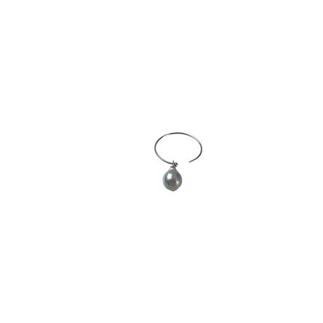 #45 百花 Coloful Akoya Pearl Hoop Earring Small